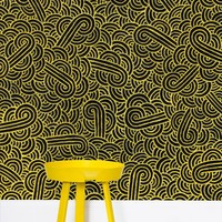 'Faux gold and black swirls doodles' Wallpaper by Savousepate on miPic