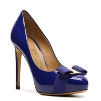 Salvatore Ferragamo Patent Leather Bow Platform Pump