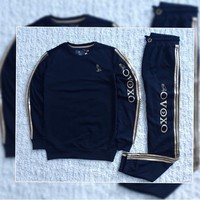 ABDCCK OVO Dark Blue Sweater Tracksuit