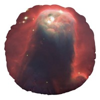 Cone Nebula in space - Jesus Round Pillow