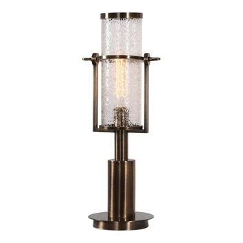 Marrave Stacked Iron Lamp Antique Brass