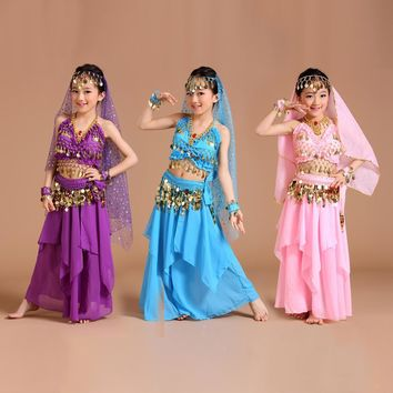 Children Belly Dance Costume Kids Indian Dance Dress Child Bollywood Dance Costumes for women Performance Dance Wear