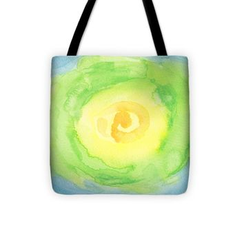 """Abstract Iceberg Lettuce Tote Bag 13"""" x 13"""""""
