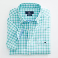 Weatherly Gingham Short-Sleeve Tucker Shirt