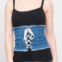 LACE UP CORSET TUBE TOP