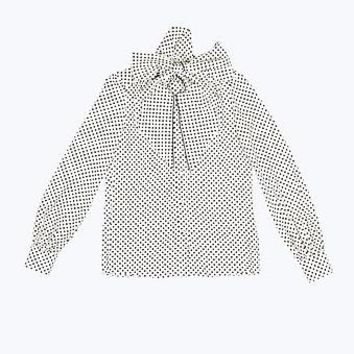 Small Polka Dot Tie Neck Blouse - Marc Jacobs