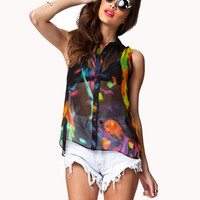Sheer Neon Pop Shirt