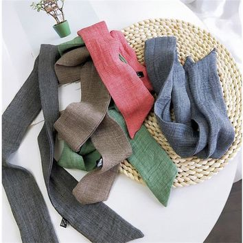 Soft cotton and linen handbag scarf/New style with beautiful colour /Women's bandanas headbands Hair ribbons hair accessories