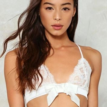 Bow Above and Beyond Lace Bralette