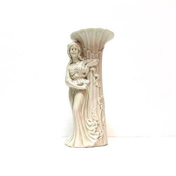 Beautiful Art Deco Maiden Goddess Candlestick Candle Holder - UCTCI japan