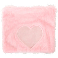 FURRY HEART CLUTCH