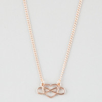 Full Tilt Heart Infinity Necklace Gold One Size For Women 25257862101