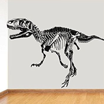 Wall Decal Vinyl Sticker Decals Art Decor Design Dinosaur Skeleton Teeth Bones Animals Kids Children Nursery Bedroom Fashion (r616)