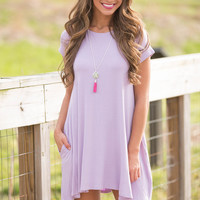 Let's Just Relax Lavender Dress