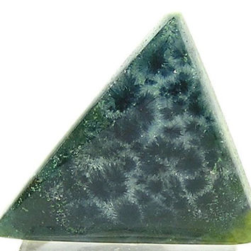 Rare Wavellite Stone Cabochon 14 carats Blue Wavellite and Emerald Green