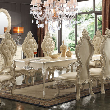Homey Design HD-13012 Victorian Inspired Luxury Formal Dining Room Set