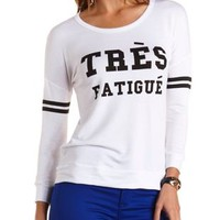 Tres Fatigue Graphic Long Sleeve Tee by Charlotte Russe