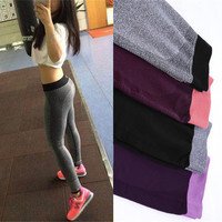 Slim Fit Sport Suit Fitness Sportswear Stretch Exercise Yoga  Trousers Pants Leggings _ 2125