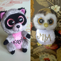 Personalized stuffed animal beanie boos / beanie babies