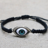 Evil eye charm bracelet, Personalized gifts,The best gift of friendship