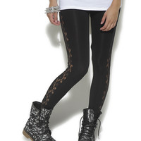 Lace Inset Ankle Legging | Shop Just Arrived at Wet Seal