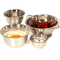 Walmart: Heuck 4-Piece Stainless Steel Mixing Bowl and Colander Set
