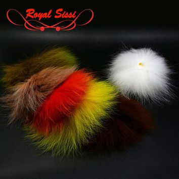 6 optional dyed colors fly tying Fox Tail Hair Arctic Fox polar tail pieces Hobby Craft Fish hairwing pattern fly tying material