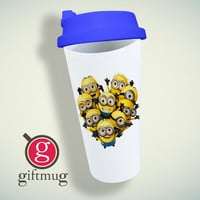Minions Despicable Me Love Double Wall Plastic Mug