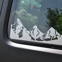 XL Mountains Decal for Windows Single Side