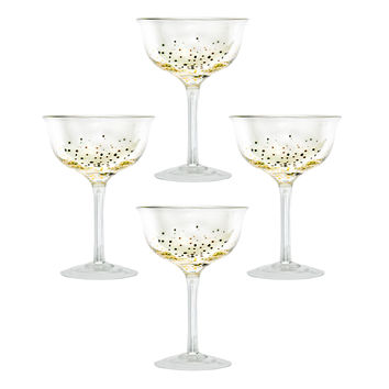 Glitter Champagne Coupes - Set of 4