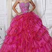 Strapless Layered Quince Gown 26707