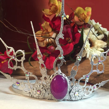 Fairy queen elven crown Tiara circlet steampunk gothic tiara snow frozen