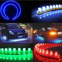 4 Colors Car Styling 12V 24cm Car LED DRL Light Strip For Daytime Running Light motorcycle car Sports car decoration Waterproof