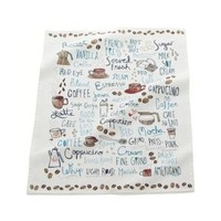 Coffee Talk Dish Towel