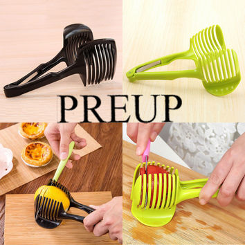 Green/Black Multifunctional Portable Tomato Lemon Fruit Vegetable Round Slices Devices Creative Kitchen Cooking Accessories