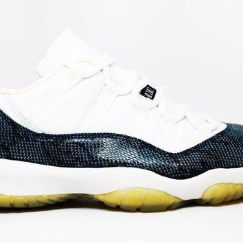 Air Jordan 11 Snake Low Basketball Shoes <>