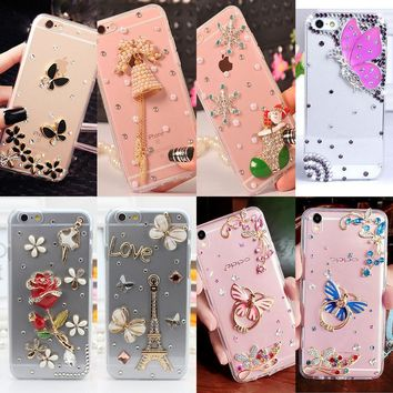Glitter Crystal Rhinestone Case Cover For Samsung A520/A5 2017,Acrylic DIY Unique Diamond Protective Shiny mobile phone shell