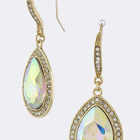 CLASSIC TEARDROP CRYSTAL EARRINGS