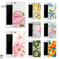 New Arrival Ultrathin Plastic Case for iphone 5 5s 6 6s 6plus Flowers Daisy Plants Cactus pattern Phone case