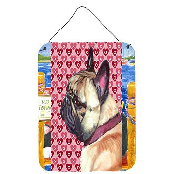 French Bulldog Frenchie Hearts Love and Valentine's Day Wall or Door Hanging Prints LH9566DS1216