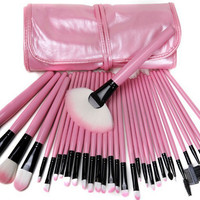 32-pcs Pink Make-up Brush Set [6048691841]