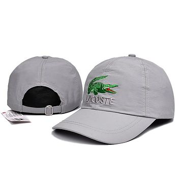 Lacoste Women Men Embroidery Adjustable Travel Hat Sport Cap