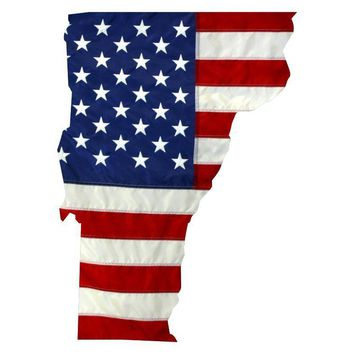 State of Vermont Realistic American Flag Decal - Various Sizes