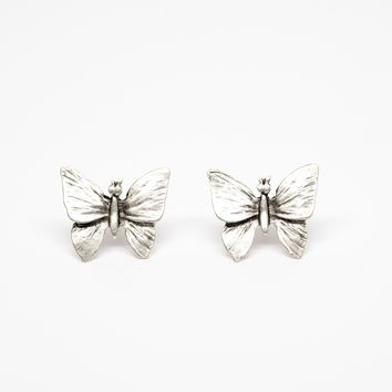 Butterfly Silver Plated Fashion Earrings