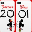 CUTE Minnie and Mickey Couples Matching Iphone Cases Together Since