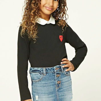 Girls Heart Patch Top (Kids)