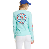 Women's Long-Sleeve America's Cup Ring Of Flags Pocket Tee