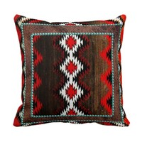 Native American Indian Red & Brown Tribal Print
