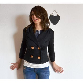 $132.20 Coco double breasted cropped Jacket by MonicaMBoutique