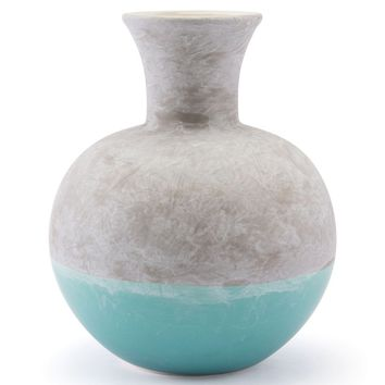 Azte Md Vase Gray & Teal